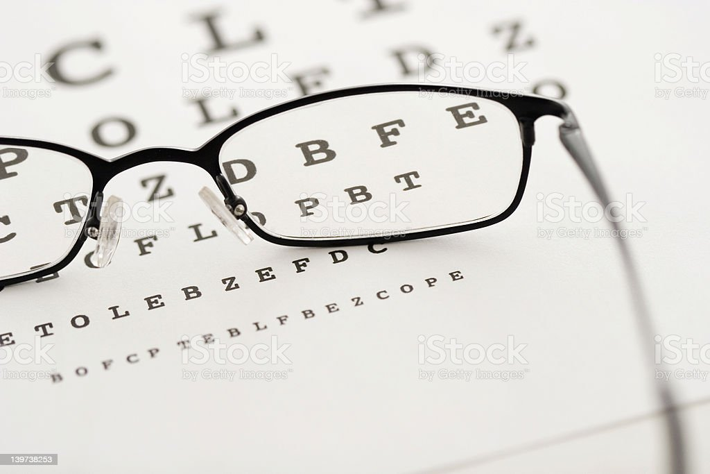 Vision test royalty-free stock photo