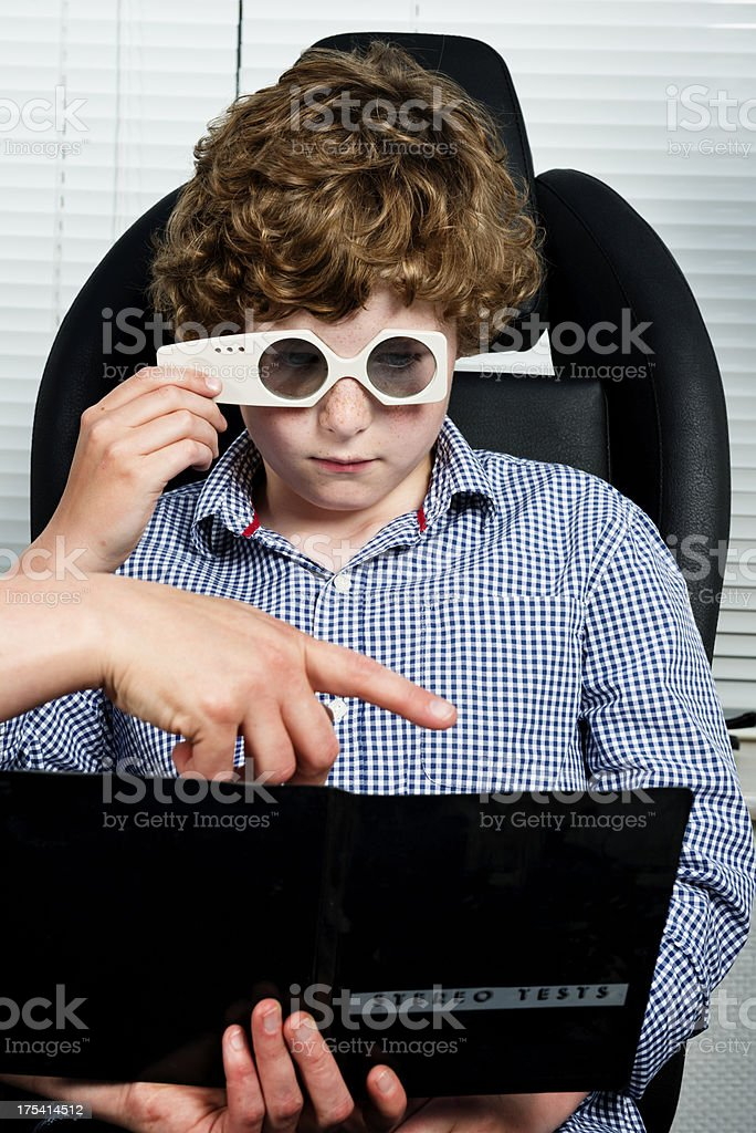 3D Vision Test royalty-free stock photo