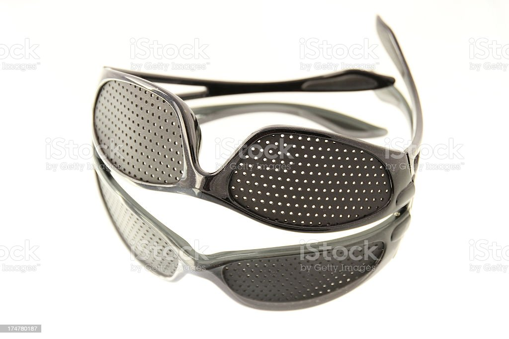 vision training glasses royalty-free stock photo