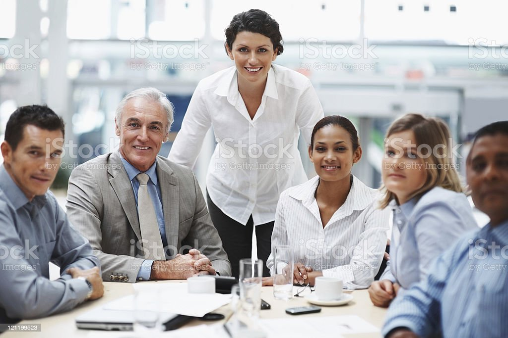 Visionary business group - Team during a meeting in boardroom royalty-free stock photo