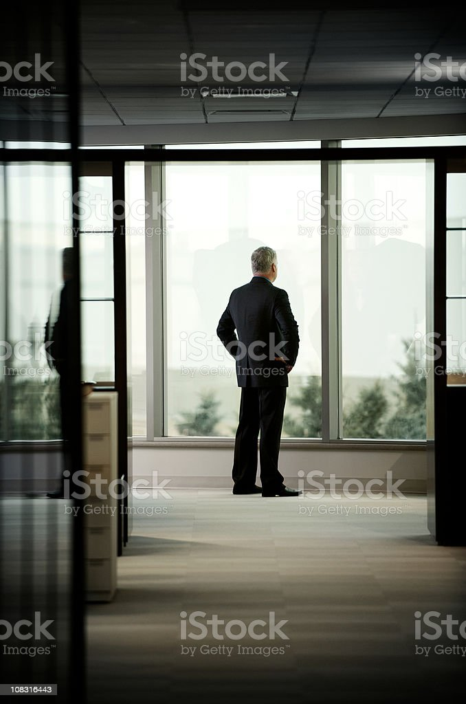 Visionary businessman looks to the future royalty-free stock photo