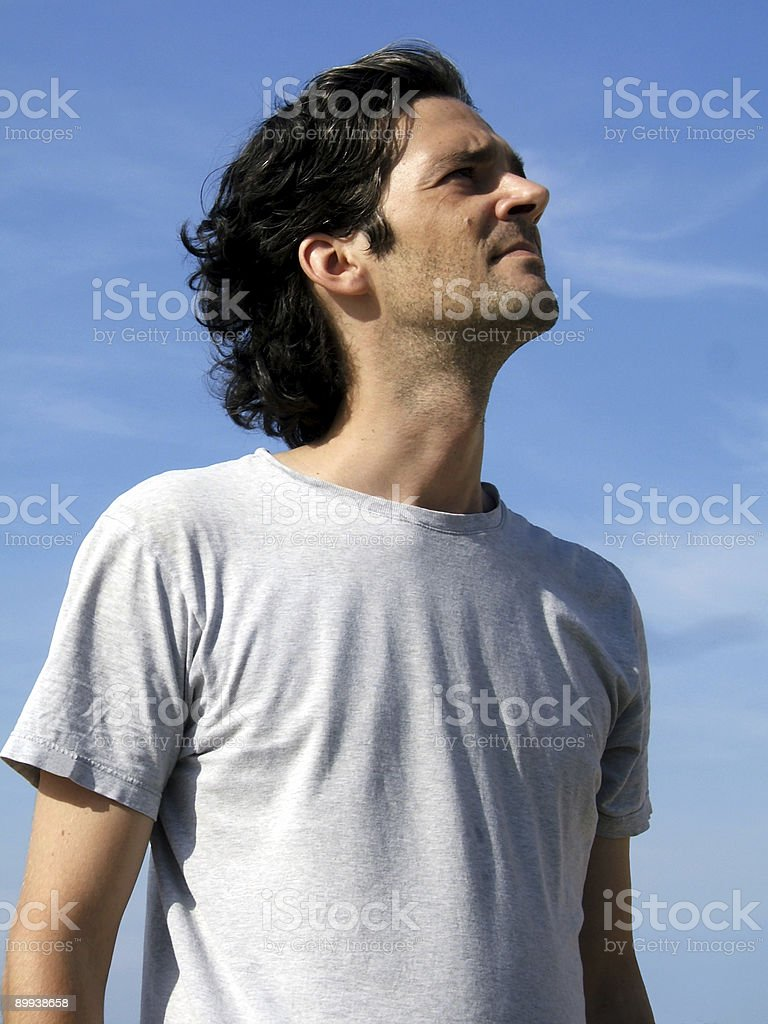 Visionary man stock photo