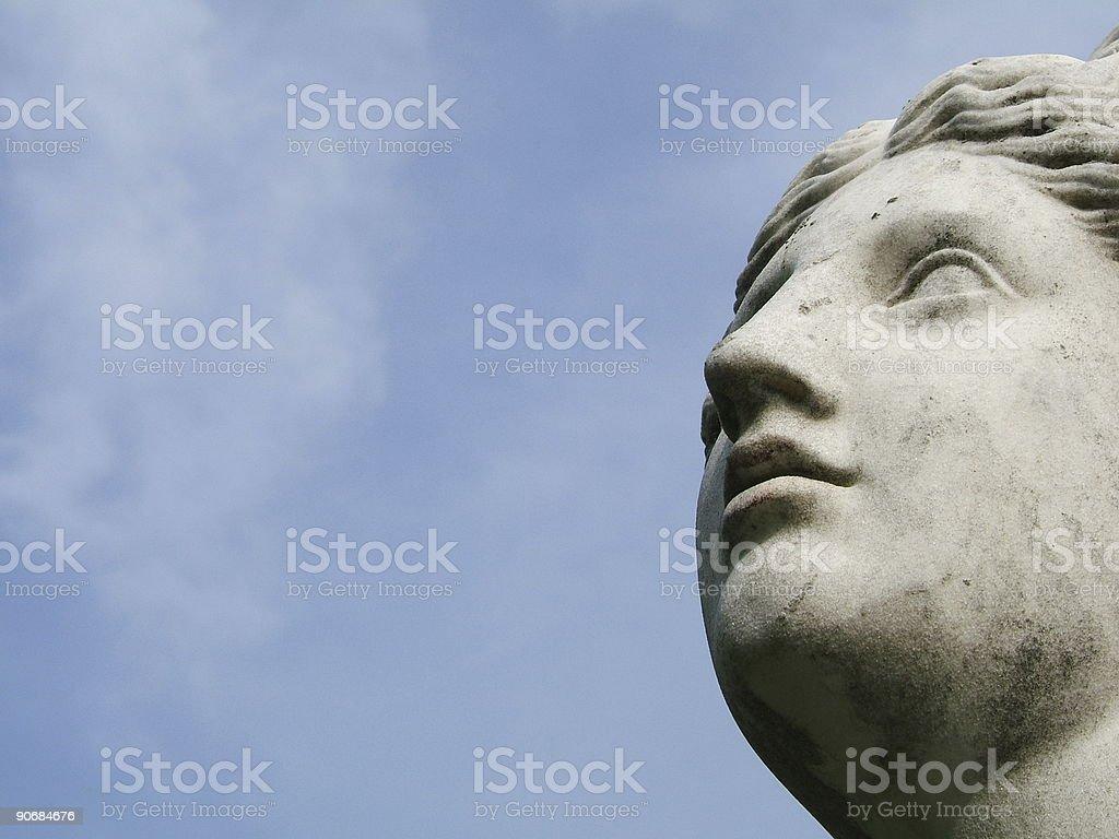Visionary stone woman royalty-free stock photo