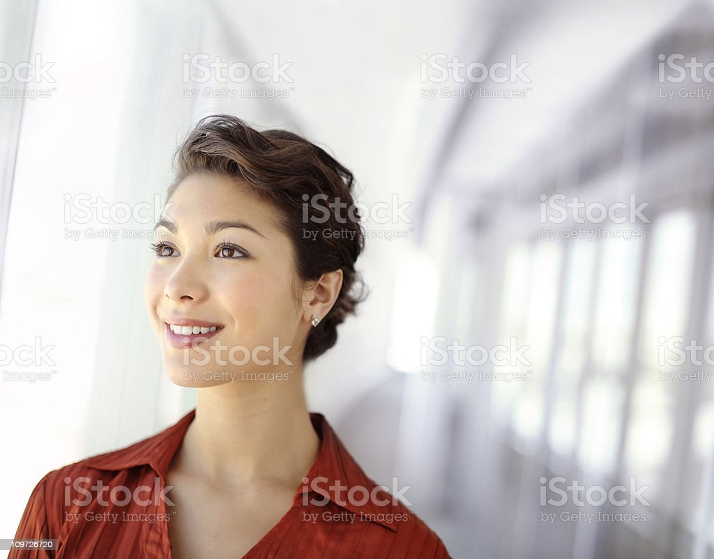 Visionary young executive woman stock photo