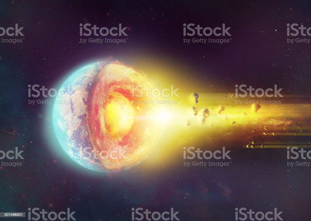 Visions of a terrifying end stock photo