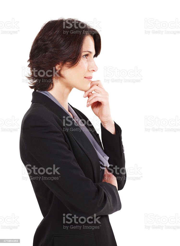 Visions of her company's future stock photo