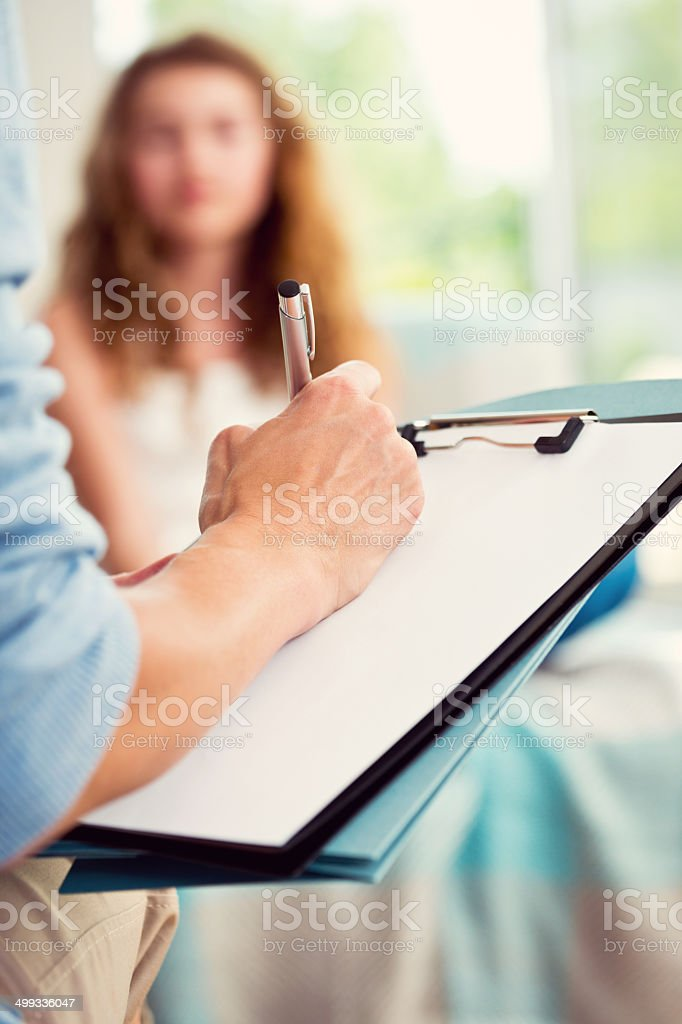 Visit a psychologist stock photo