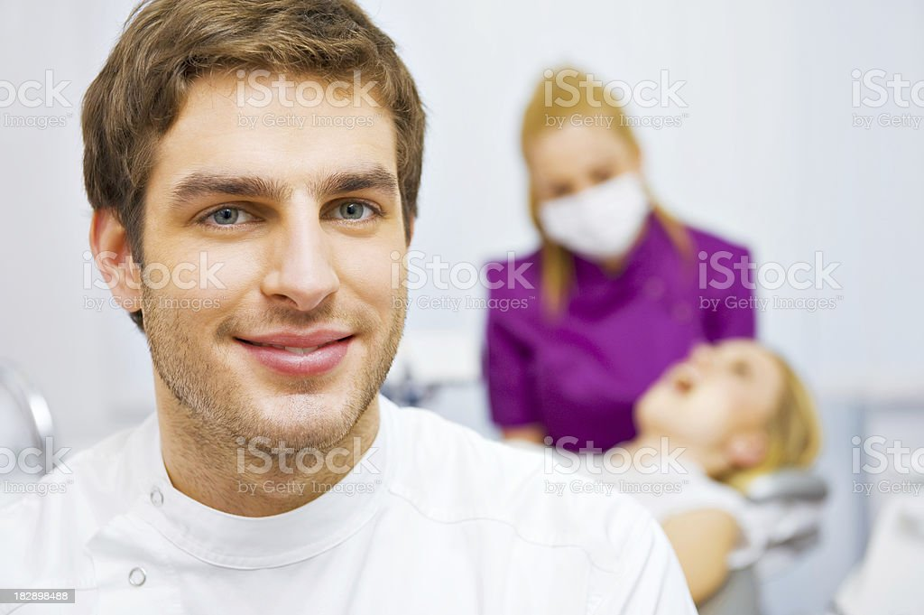 Visit at the dentist's surgery royalty-free stock photo