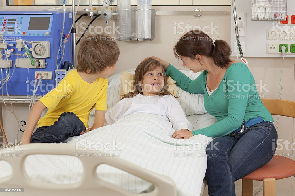 visit in hospital royalty-free stock photo