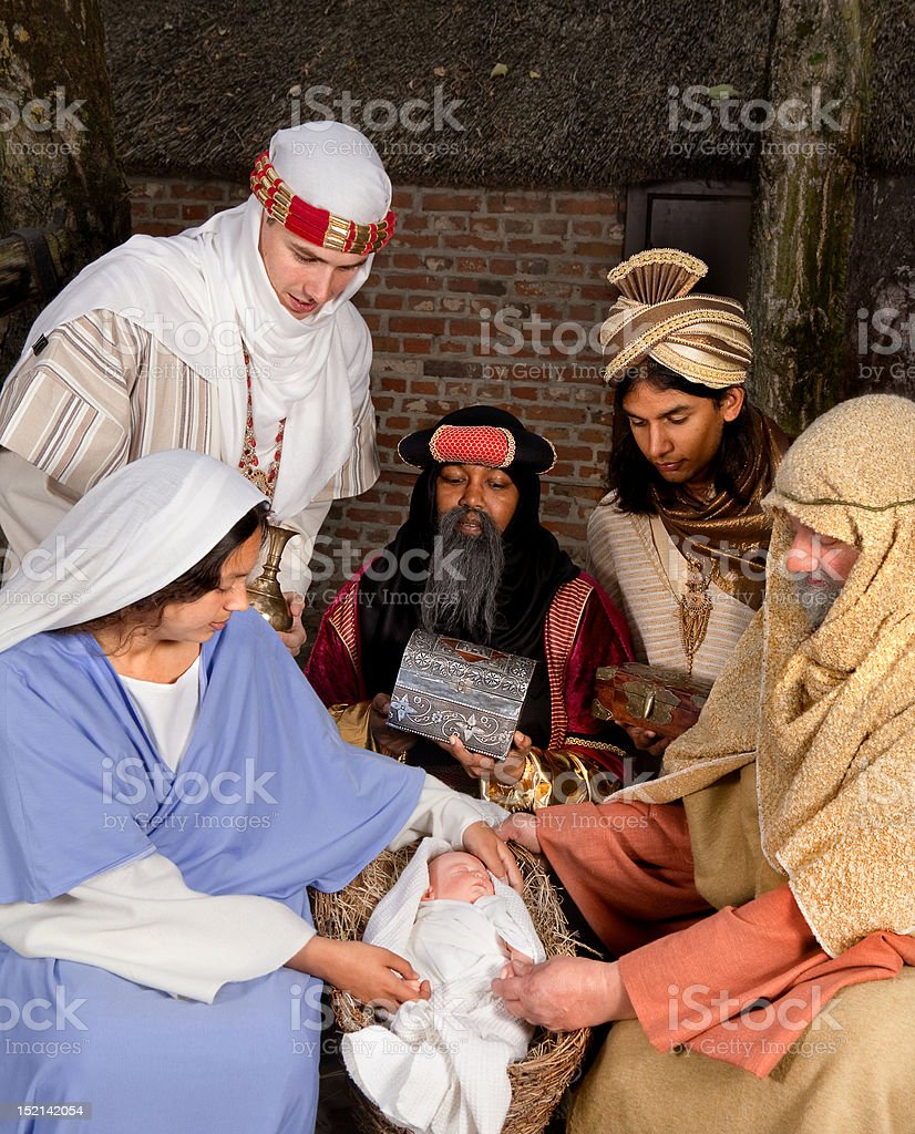 Visit of the wisemen stock photo