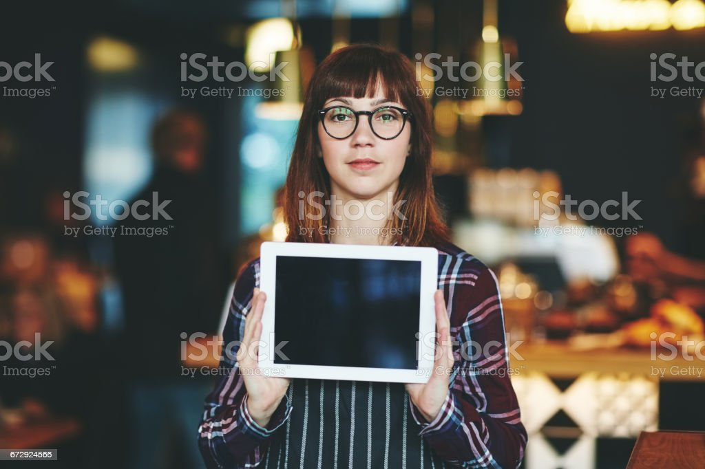 Visit our cafe's website at www… stock photo