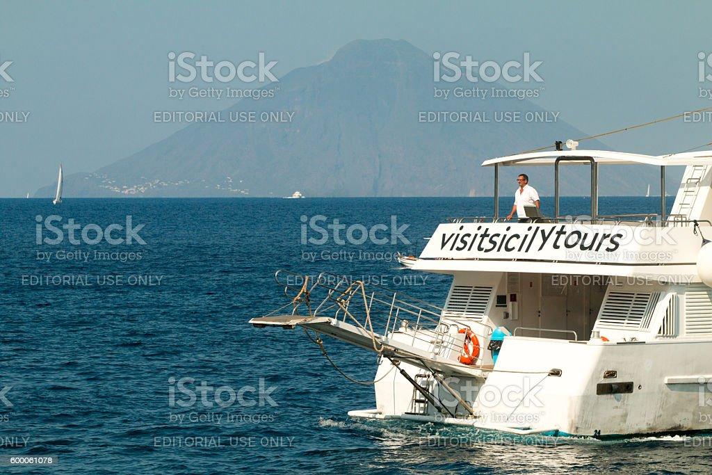 Visit Sicily Tours in the Tyrrhenian Sea, Sicily stock photo
