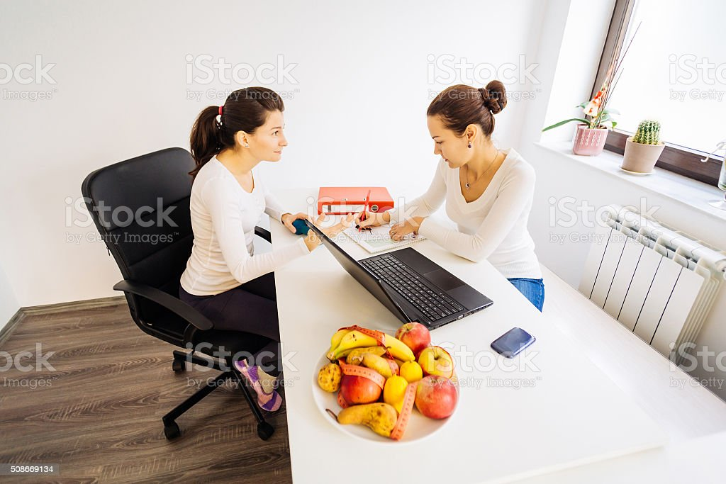 Visit to a nutritionist doctor stock photo