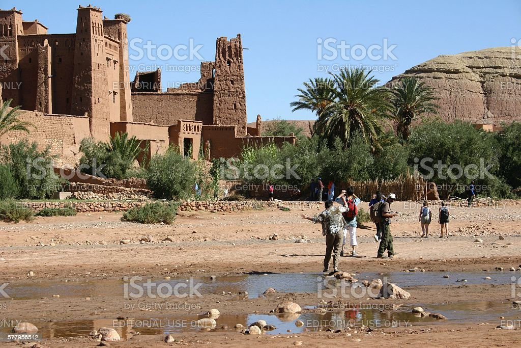 Visit to Ait Ben Haddou stock photo