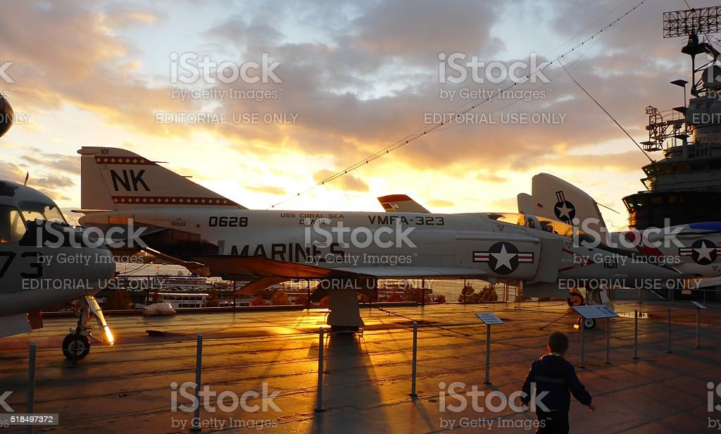 Visit to The Aerospace Museum of NY - The Intrepid stock photo