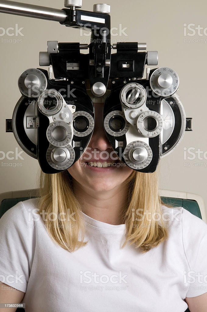 Visit to the Eye Doctor royalty-free stock photo