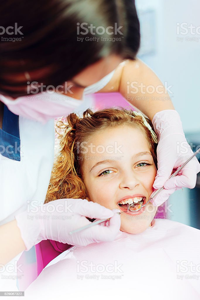 Visit your dentist for healthy teeth and oral hygiene stock photo