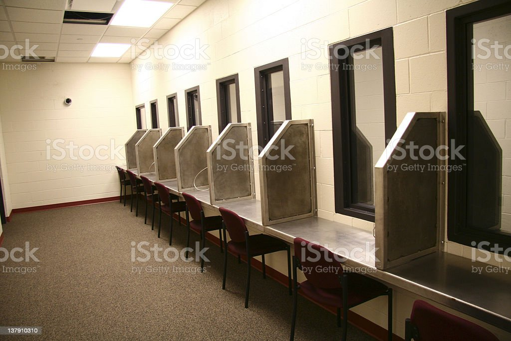 Visitation area for Prisoners stock photo
