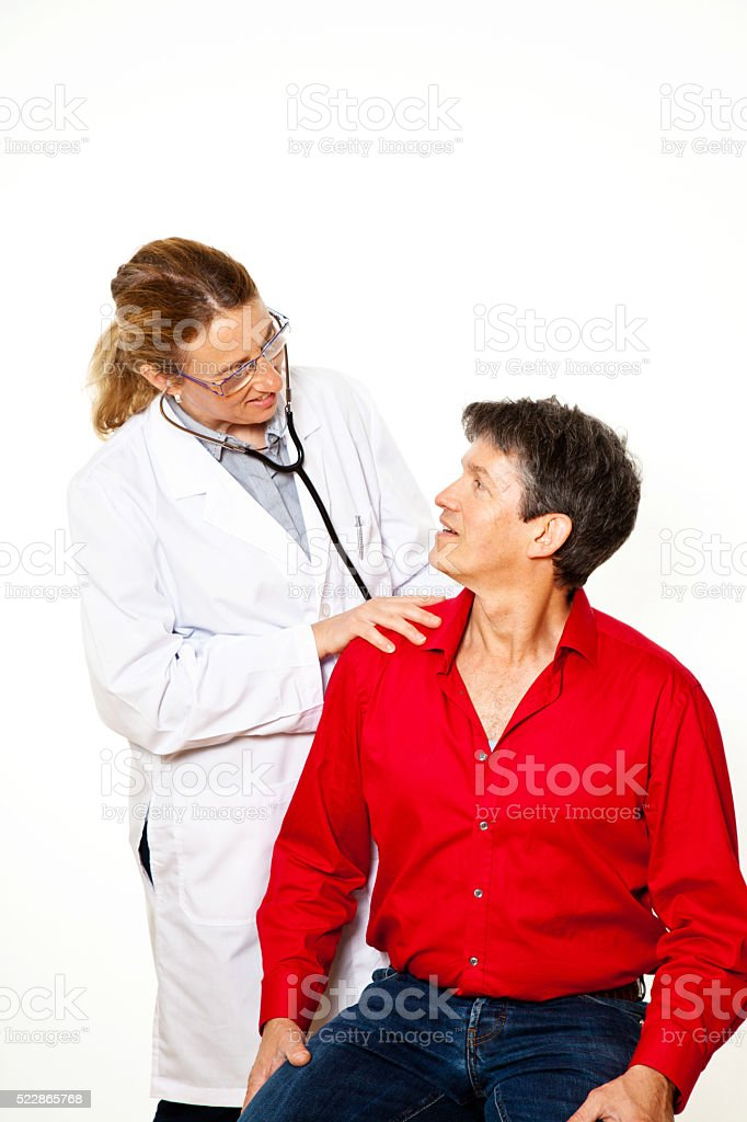 visite the doctor stock photo