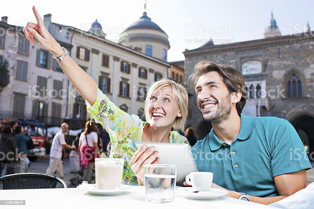 Visiting Bergamo royalty-free stock photo