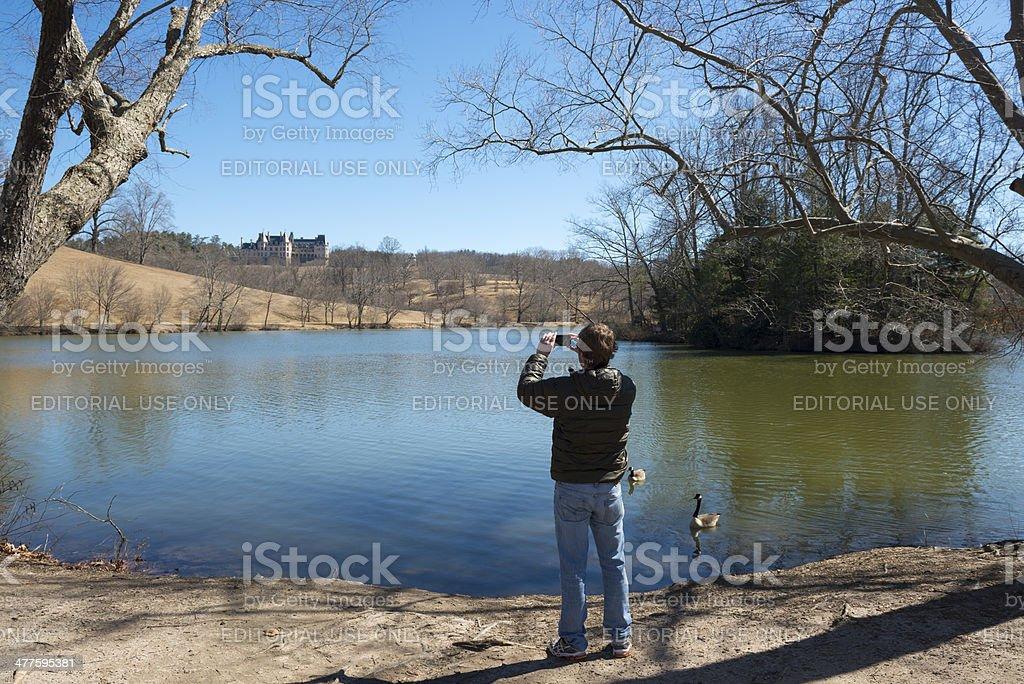 Visiting Biltmore Estate in Asheville stock photo
