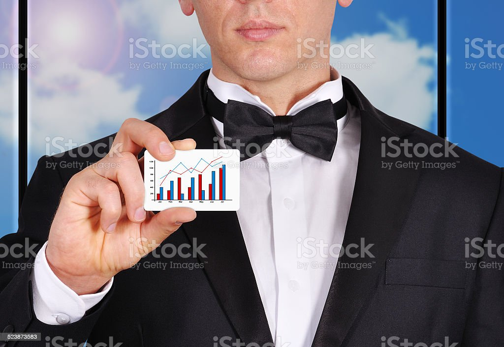 visiting card with chart royalty-free stock photo