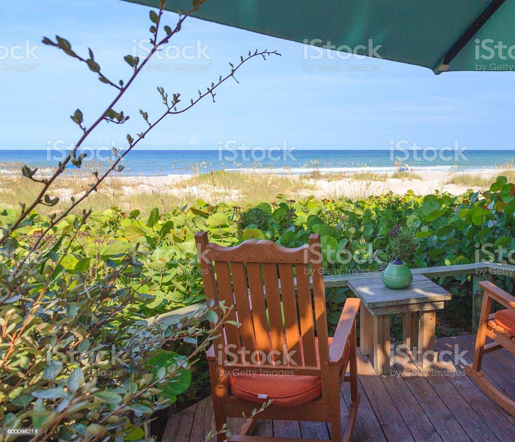 Visiting Cocoa Beach Florida stock photo