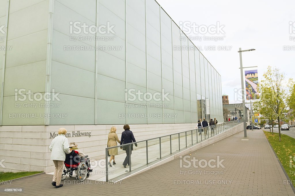 Visiting Folkwang Museum royalty-free stock photo