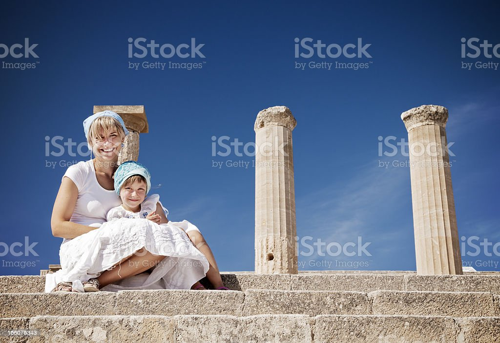 Visiting Greece royalty-free stock photo