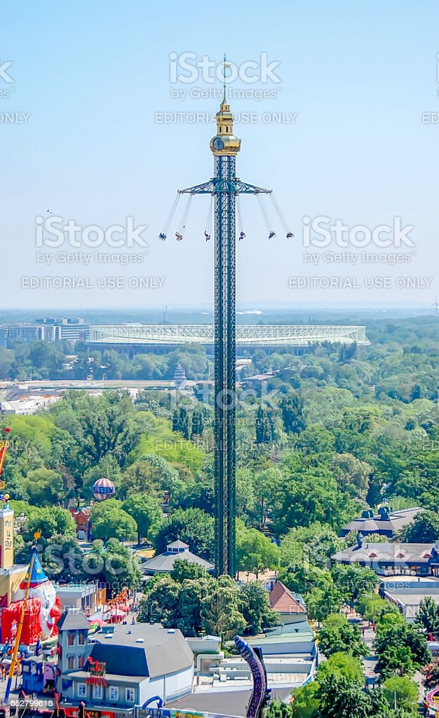 VIENNA, AUSTRIA - MAY 8, 2012: Visiting High view, scape of Prater Park. stock photo