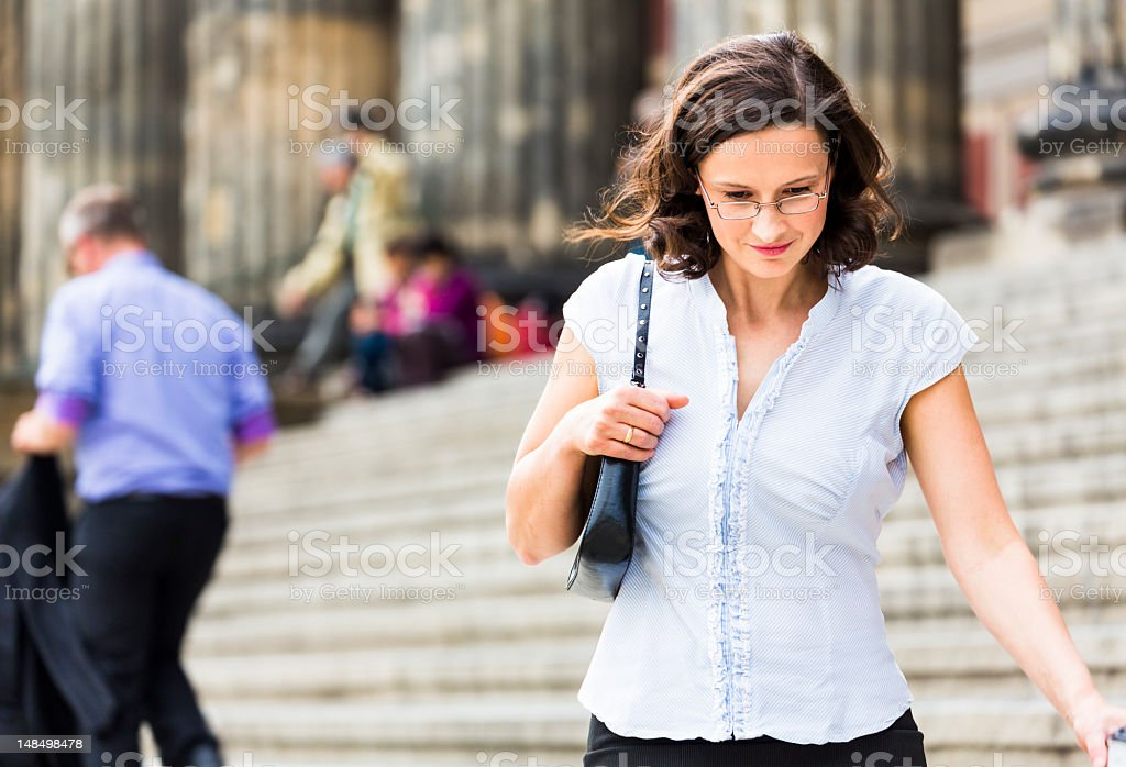 Visiting museum royalty-free stock photo