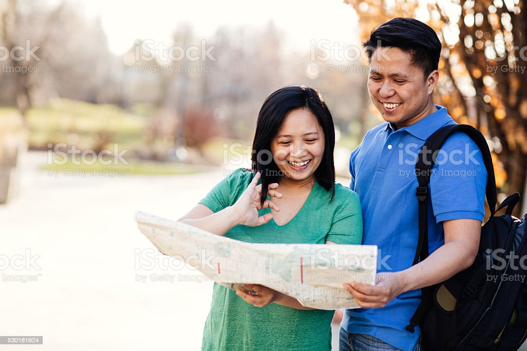 Visiting new places stock photo
