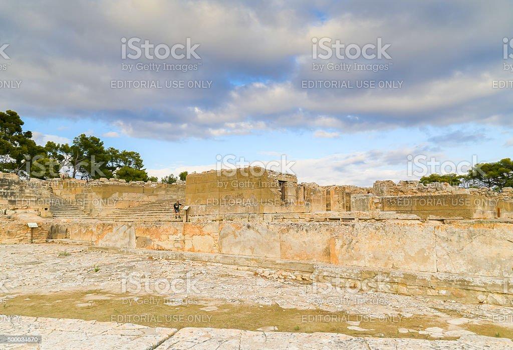 Visiting Phaistos stock photo