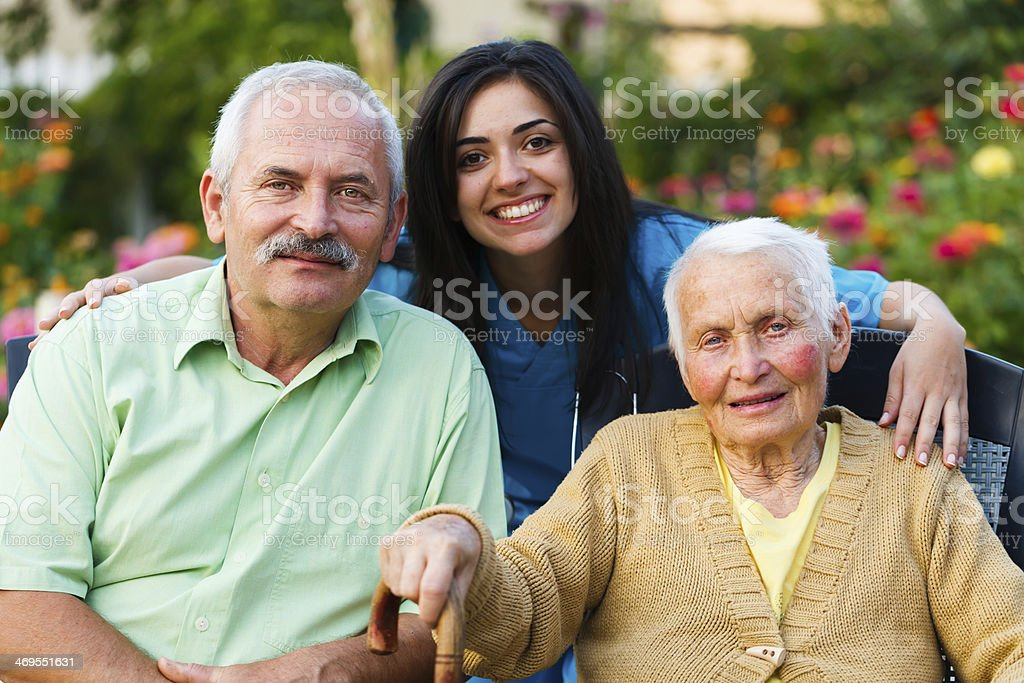 Visiting Senior Patients stock photo