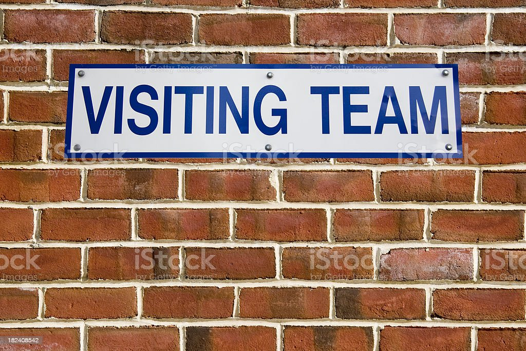 Visiting Team Dugout Sign royalty-free stock photo