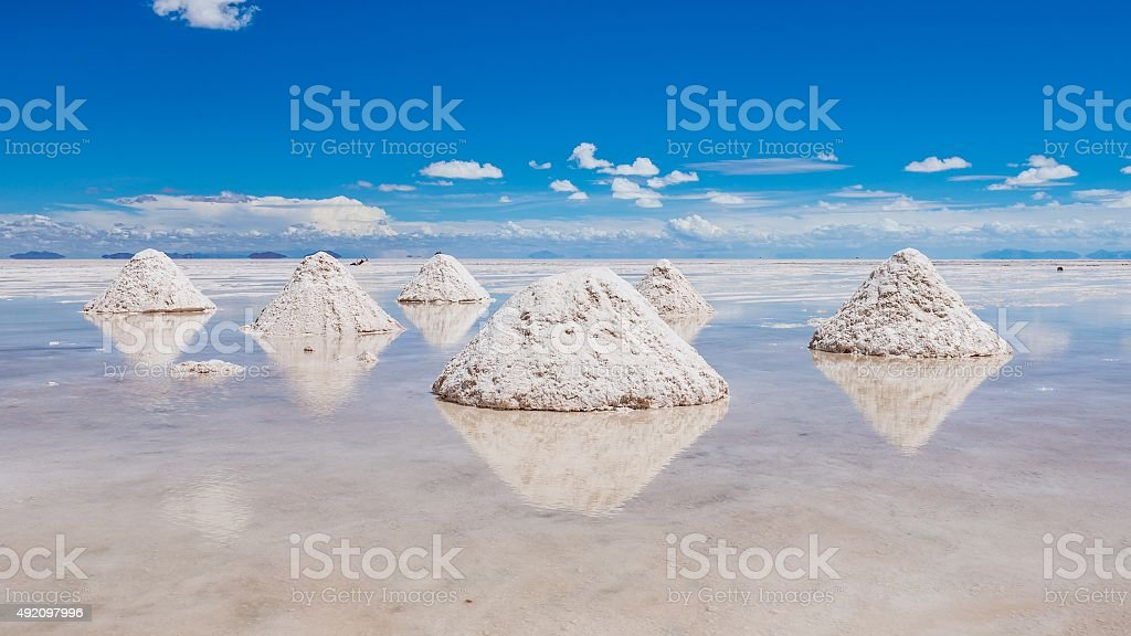 visiting the awesome salt flats of uyuni stock photo