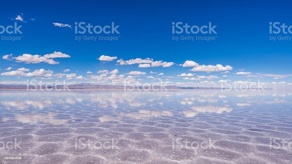 visiting the awesome salt flats of uyuni stock photo