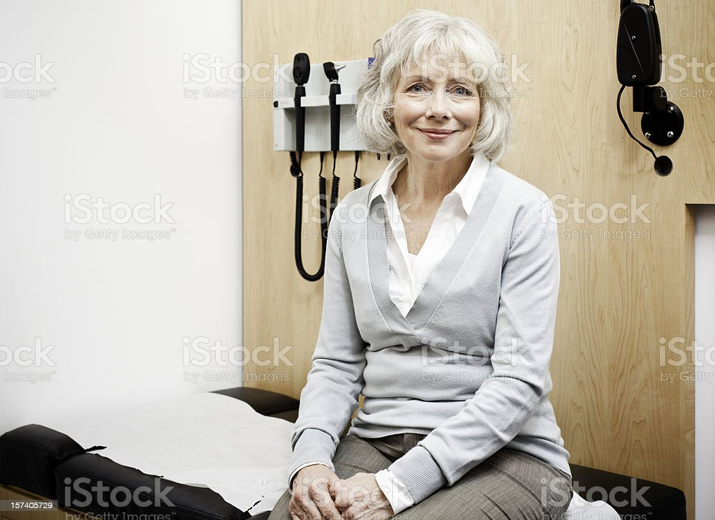 Visiting the Doctor stock photo