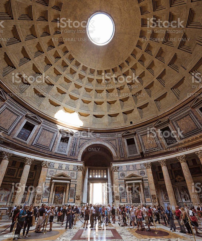 Visiting The Pantheon royalty-free stock photo