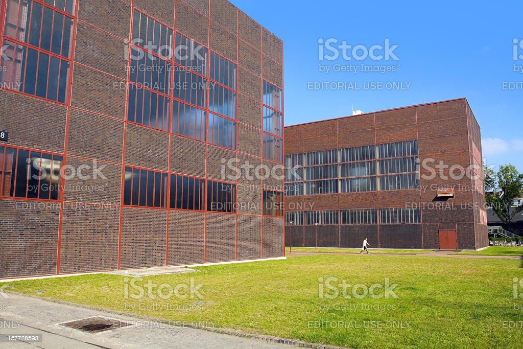 Visiting Zeche Zollverein stock photo