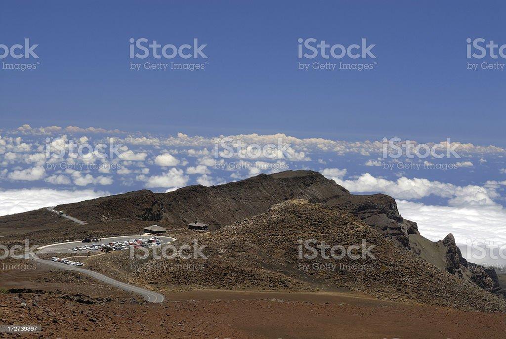 Visitor Center of Haleakala National Park royalty-free stock photo