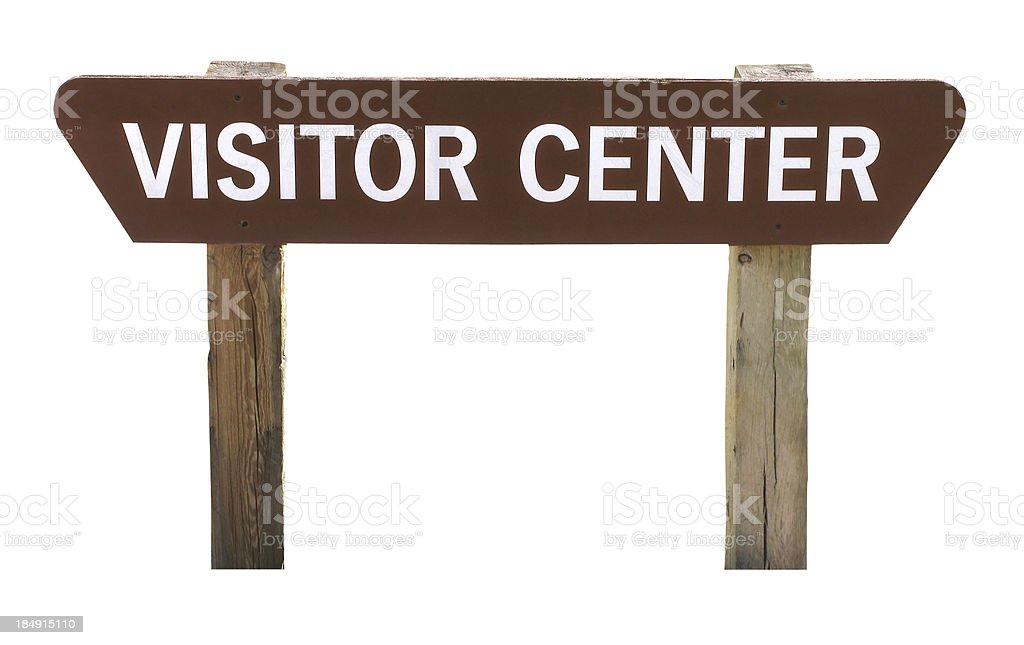 Visitor Center Sign (with clipping path) royalty-free stock photo
