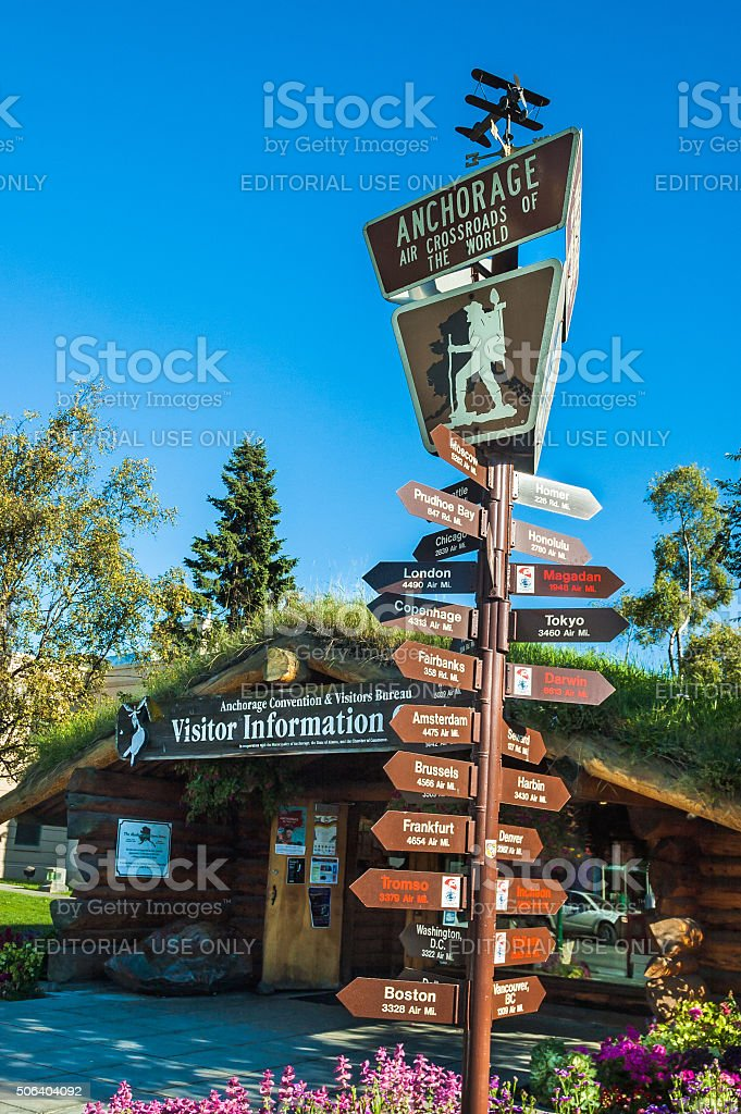 Visitor Information-Anchorage stock photo