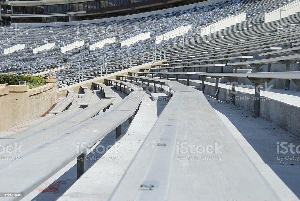 Visitor side of football stadium royalty-free stock photo