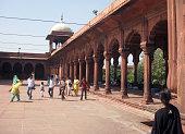 Visitors at Fatehpur Sikri in India