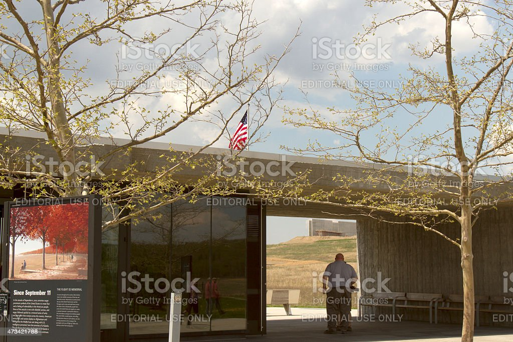Visitors at Flight 93 National Memorial stock photo