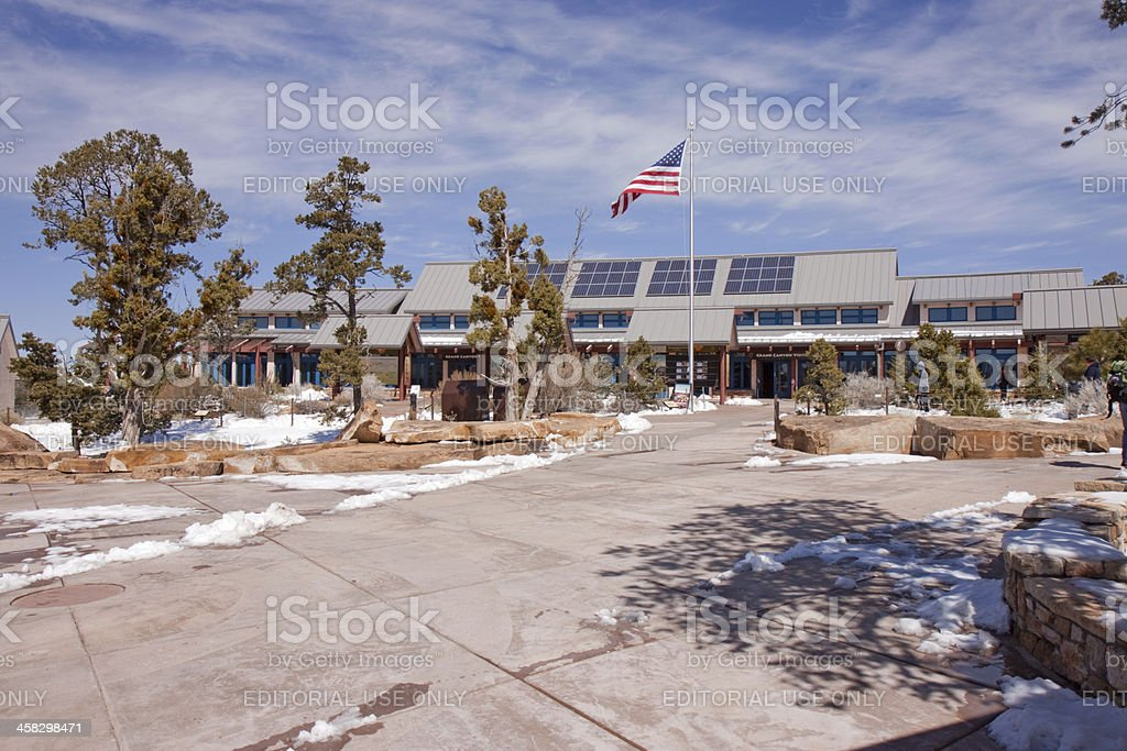 Visitor's Center at Grand Canyon National Park stock photo