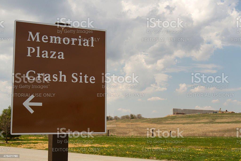 Visitors Center under construction at Flight 93 Memorial stock photo