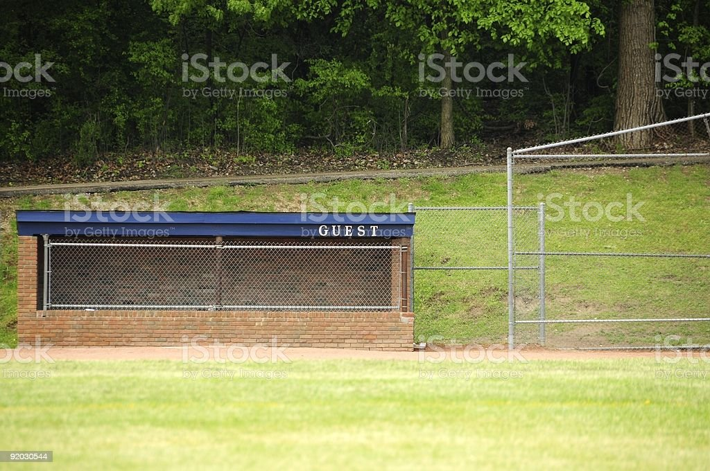 Visitor's Dugout stock photo