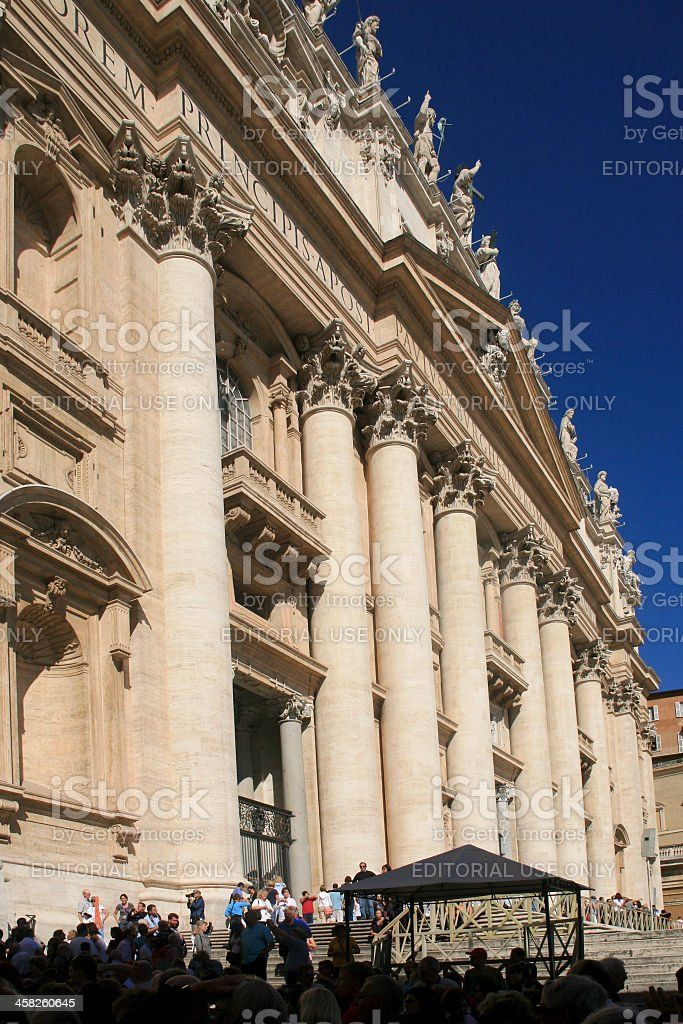 Visitors Entering St. Peter's Basilica, Vatican City royalty-free stock photo